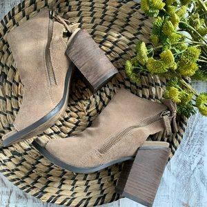 Dolce Vita open toe zip up ankle booties sz 5